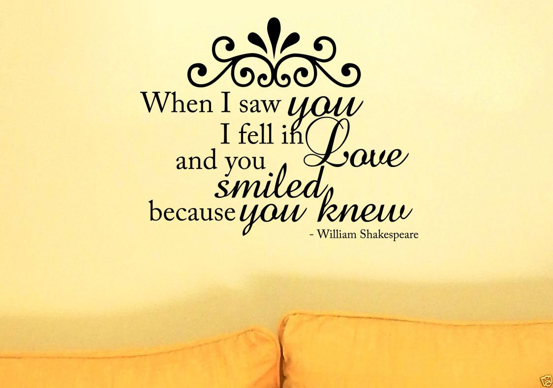 William Shakespeare Love Quote Vinyl Wall Art Sticker Home Deco ...