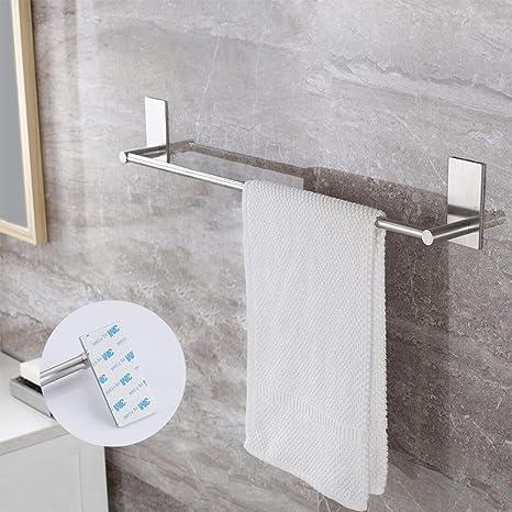 KES Toallero Baño Adhesivo 30 cm / 12 Pulgadas Lavabo Barra Ducha Cepillado SUS 304 Inoxidable Acero A7000S30-2