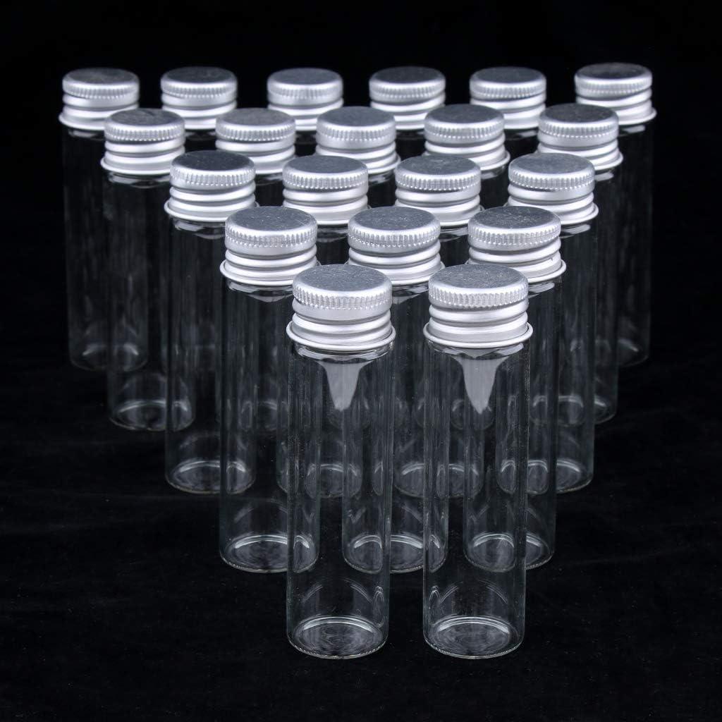 Fenteer 20x Flacons Vides Bouteilles Cosm/étiques bocaux en verre 5 ml