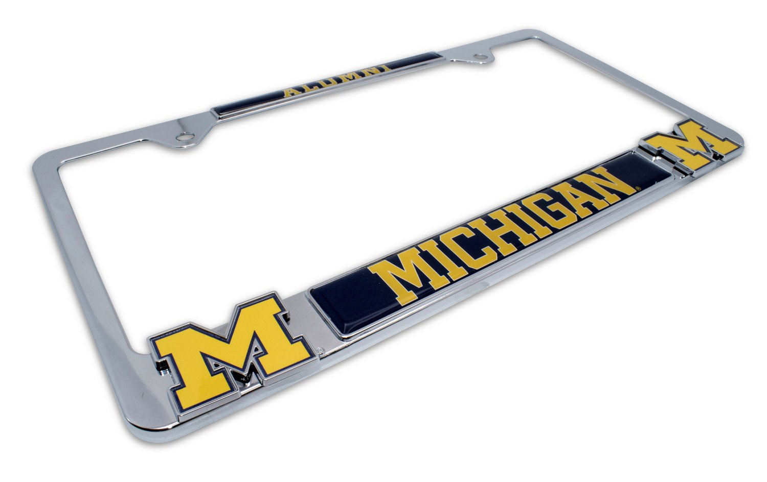 Elektroplate University of Michigan License Plate Frame Variation Wolverines