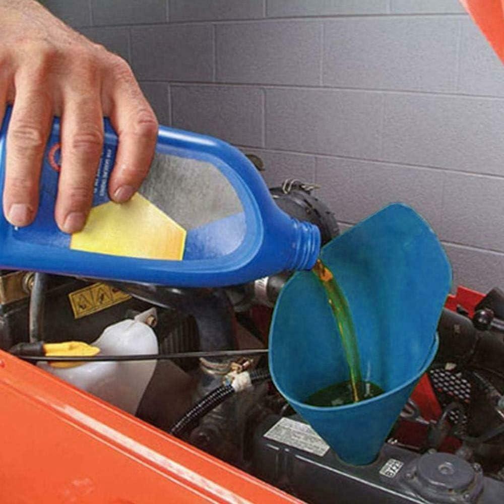 Blu Grande Domilay Imbuto Flessibile per Auto Drenante Flessibile Strumento di Rifornimento di Carburante Imbuto Un Bocca Lunga