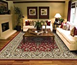 Large Rugs for Living Room Red Traditional Clearance Area Rugs 8x10 Under...