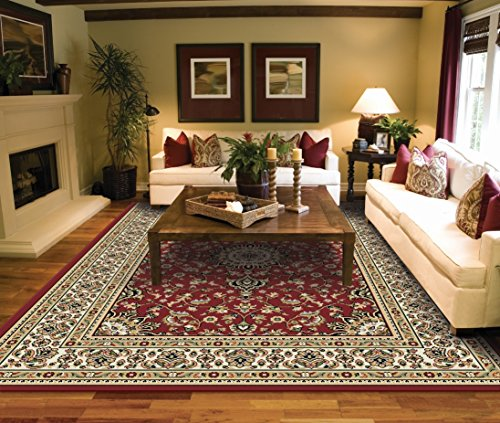 Large Rugs for Living Room Red Traditional Area Rugs 8x10 Under 100 Prime Rugs (Rugs 10x14 Sale)