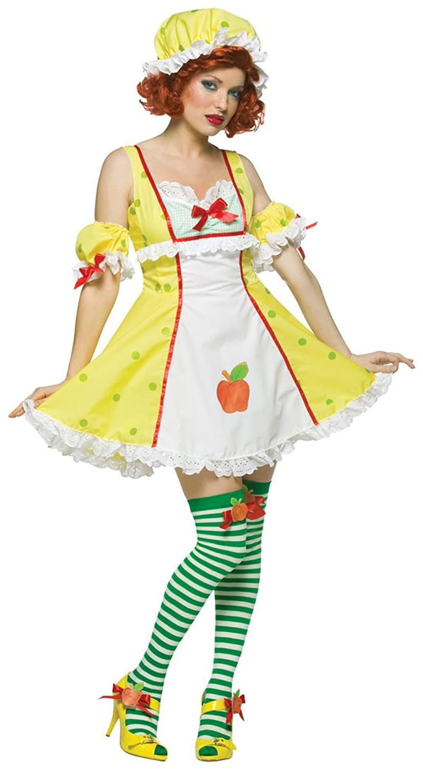 amazoncom adult sexy apple dumpling costume adult std clothing - Apple Halloween Costumes