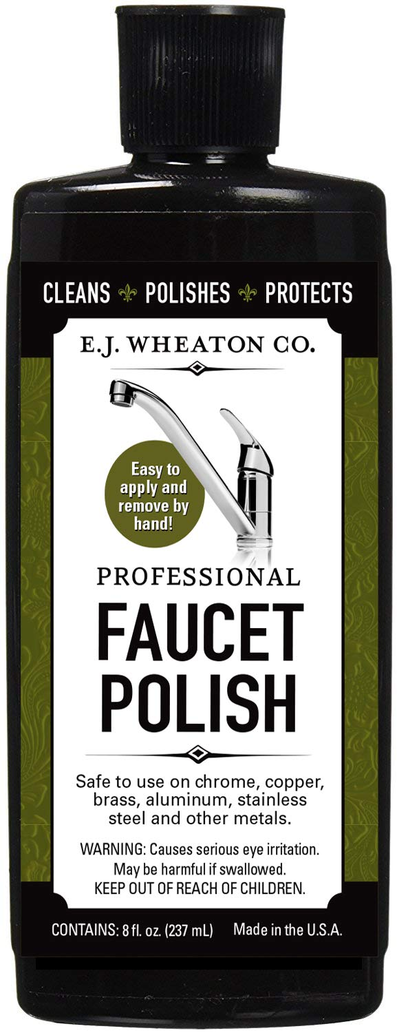 E.J. Wheaton Co. Professional Faucet Polish, Cleans, Shines and Protects Metal Faucets, Made in USA