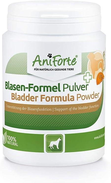 AniForte Fórmula para vejiga para Perros 100g - Uso para la incontinencia urinaria, pérdidas de orina, Ayuda a la función de la vejiga. Suplemento ...