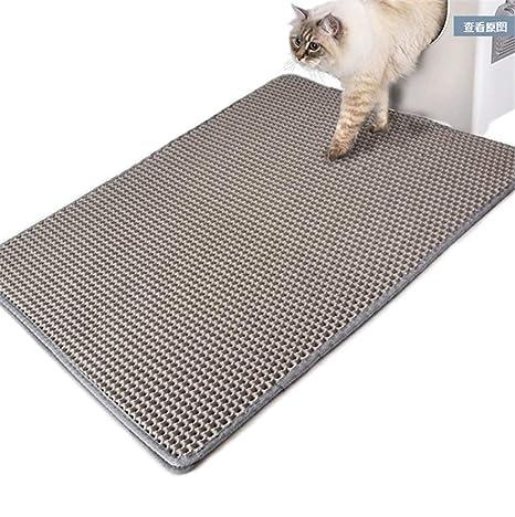 2PET La Esterilla de Arena para Gatos 30x30cm/40x60cm Alfombra para arenero de Gatos Diseño