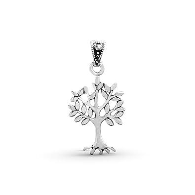 Amazon.com: Tree of Life Pendant Sterling Silver 925 Sacred ...