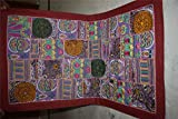 Vintage Tapestry Antique India Handmade Embroidered Patchwork Wall Hanging 111