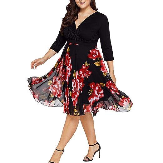 REYO ♥ [XL-5XL] Clearance Sale Women\'s Dresses V Neck Wrap Plus ...