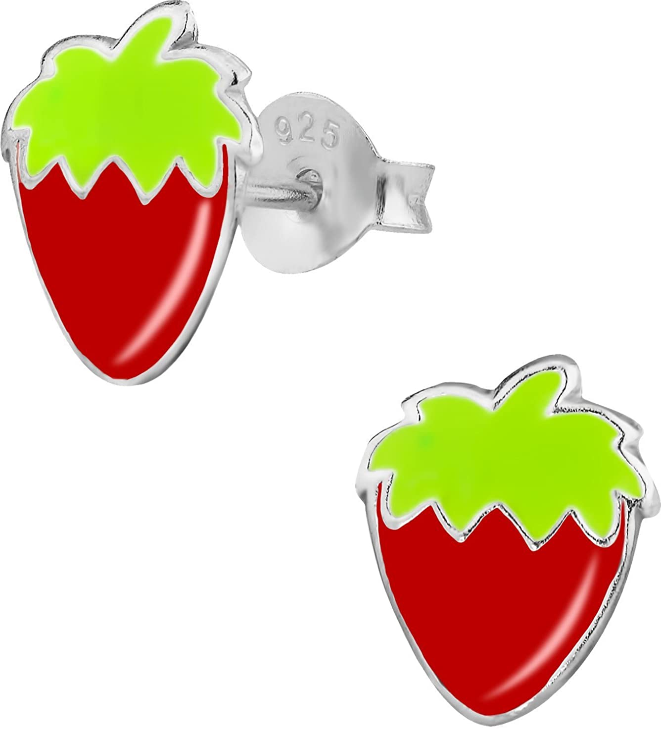 studs stud strawberry cherry earrings sour