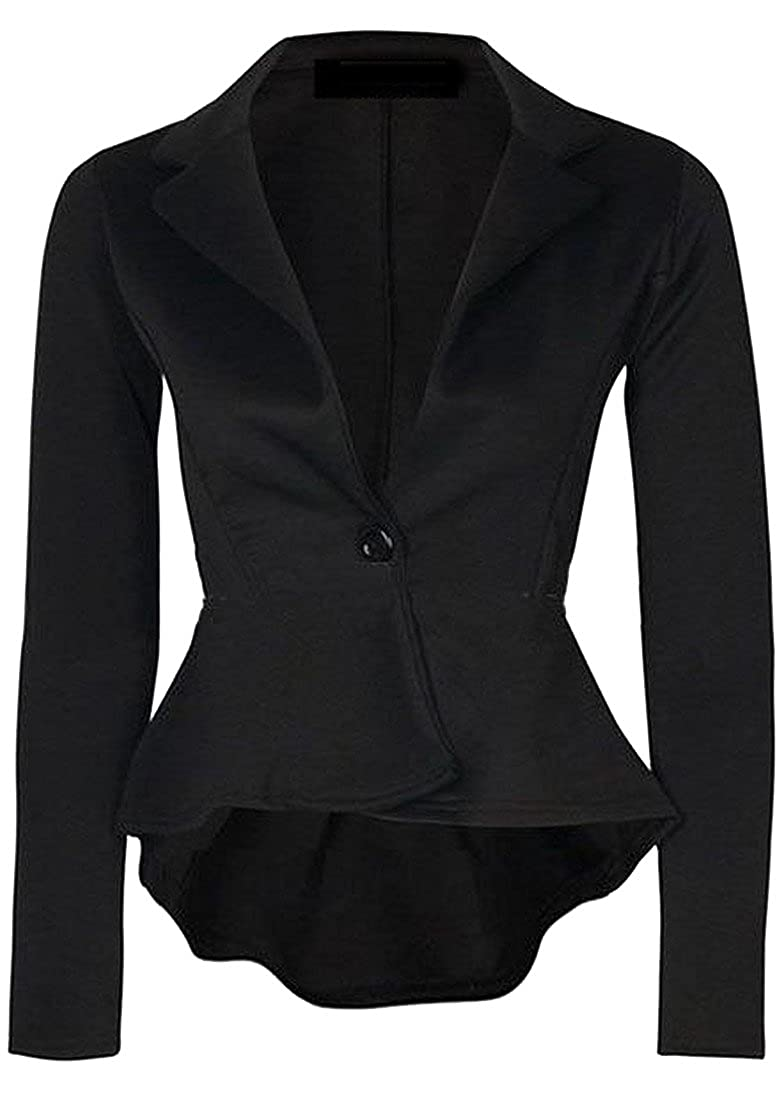 EKU Womens Slim Fitted One Button Blazer Jacket Suit XS 1