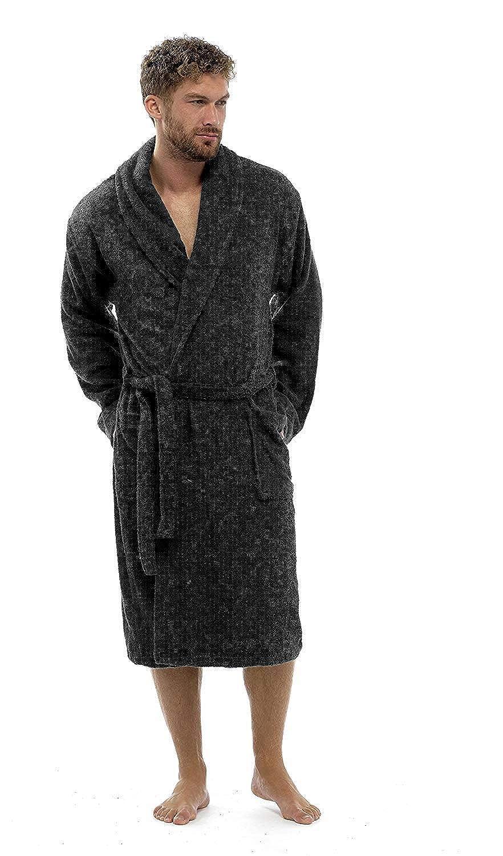 Keanu Mens 100% Cotton Robe Luxury Terry Towelling Bath Robe Dressing Gown Housecoat Belt - Sizes UK S/M L/XL