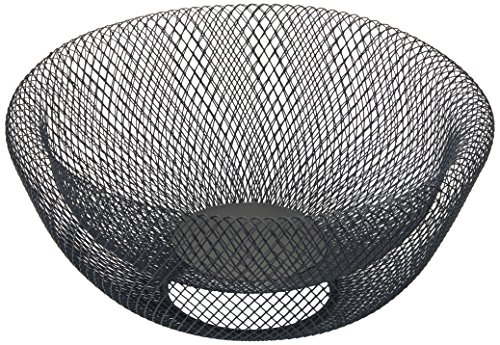 NIFTY 7541BLK Double Wall Mesh Decorative Fruit Bowl, 5 quart/12, Black (Kitchen Bowl Double)