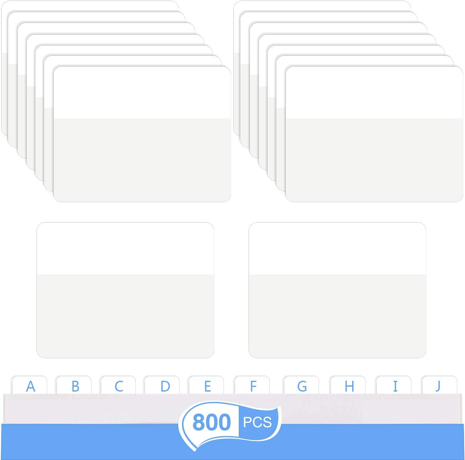 Sticky Index Tabs Page Marker Pop-up Page Flags Notes Tabs 1.6 x 2 Inch 400 Pieces White