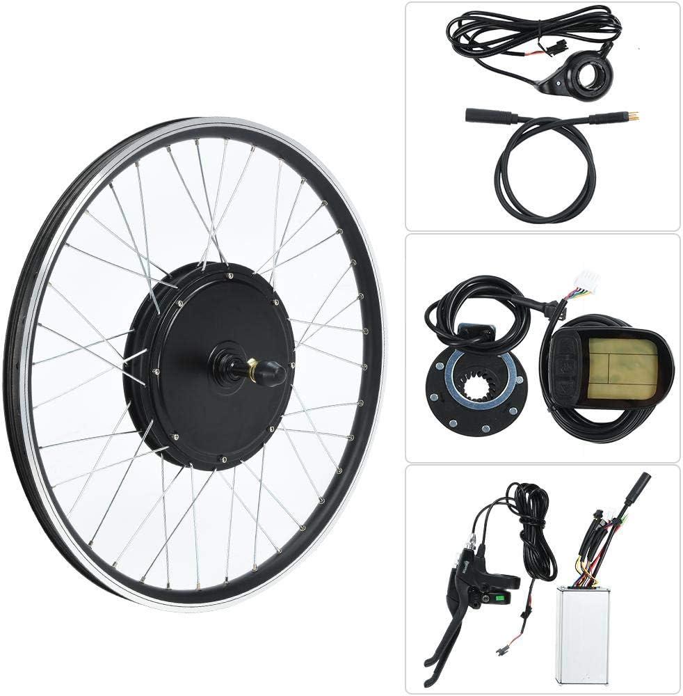 Focket Kit de Conversión de Bicicleta Eléctrica, Rueda 26 Pulgadas 48V 1500W Práctica Endurance Eléctrica Bicicleta Motor Kits Eléctrica Bicicleta Rueda Kit con Medidor KT-LCD5(Rotación Trasera): Amazon.es: Deportes y aire libre