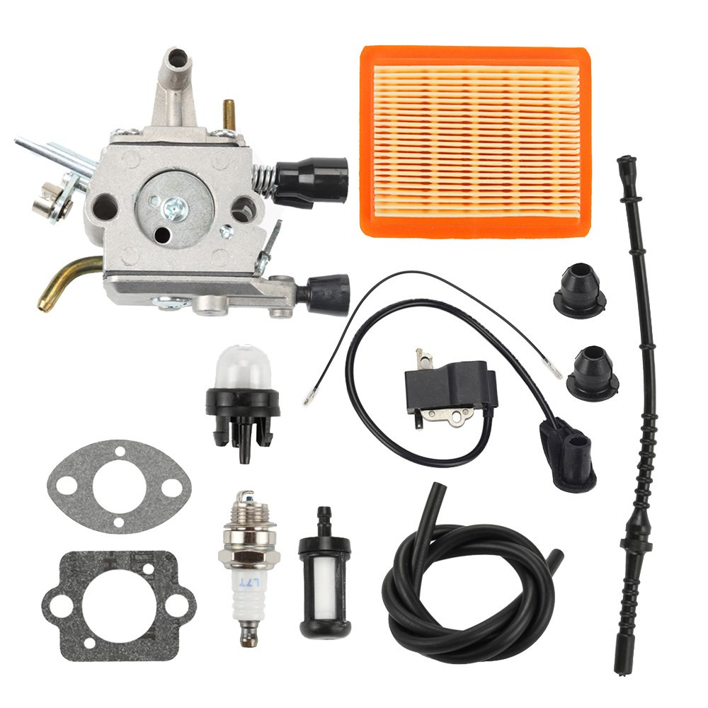 Savior FS120R Carburetor with Grommet Air Filter for Stihl FS120 FS200 FS200R FS250 FS250R BT120C BT121 FS300 FS350 Trimmer 4134 120 0603 4134 141 0300 by Savior