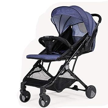 ALIFE Cochecitos De Bebé Ligeros Desde El Nacimiento. Cochecito De Viaje para Bebés Plegable Y Compacto,Blue: Amazon.es: Hogar