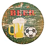 NEW DECO Tin Sign Beer Dorm Home Decor Metal Sign Rustic Retro Vintage Dia 12 Inches(30cm)