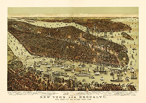 - New York City, New York - Panoramic Map (16x24 SIGNED Print Master Giclee Print w/Certificate of Authenticity - Wall Decor Travel Poster)