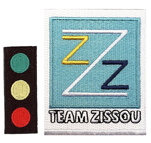 [Set of Traffic Light Team Zissou Cosplay Costume Patches by MJP] (Life Aquatic Team Zissou Halloween Costume)