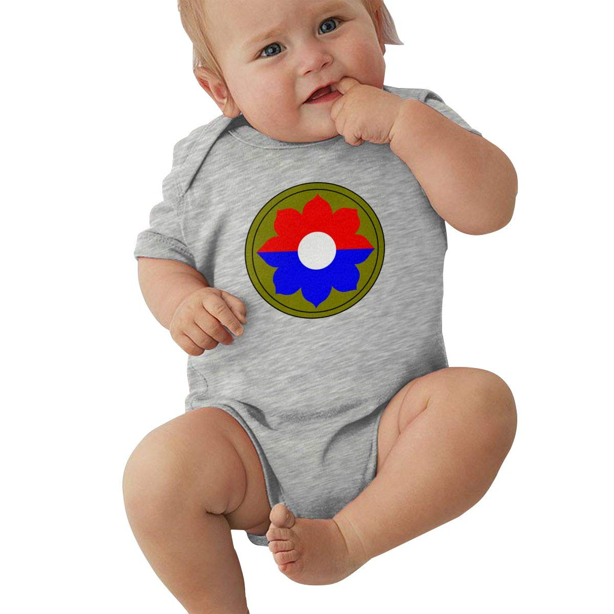 9th Infantry Division Vietnam Veteran Fashion Newborn Baby Short Sleeve Bodysuit Romper Infant Summer Clothing Black