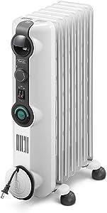 DeLonghi Comfort Temp Full Room Radiant Heater, Light Gray (Renewed)