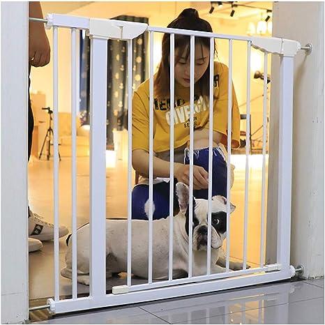 ZEMIN Barrera De Seguridad Escalera Puerta For Niños Perros Triple Bloqueo Apertura De Durable Pequeña Brecha 2 Vías Extensible Puerta De Seguridad De Ajuste A Presión: Amazon.es: Hogar