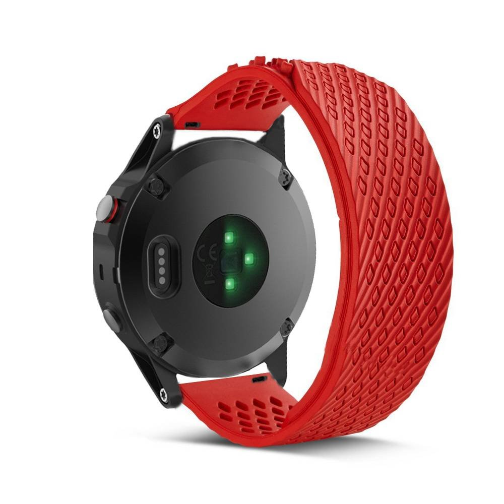 Yooside 22mm Replacement Watch Band Belt bracelet strap Wristband silicone new For Garmin Fenix 5/forerunner 935 (red)