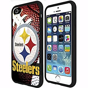 Pittsburgh Steelers Football Sports RUBBER Snap on Phone Case (iPhone 6 Plus)
