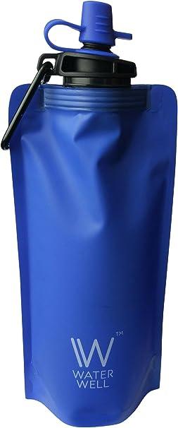 ppBotella de Agua de Viaje Plegable – Purifica el Agua Eliminando ...