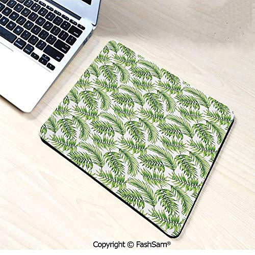 Mouse Pads Exotic Pattern with Tropical Leaves in Watercolor Art Style Jungle Luau Hawaii Decorative for Home(W9.85xL11.8) -