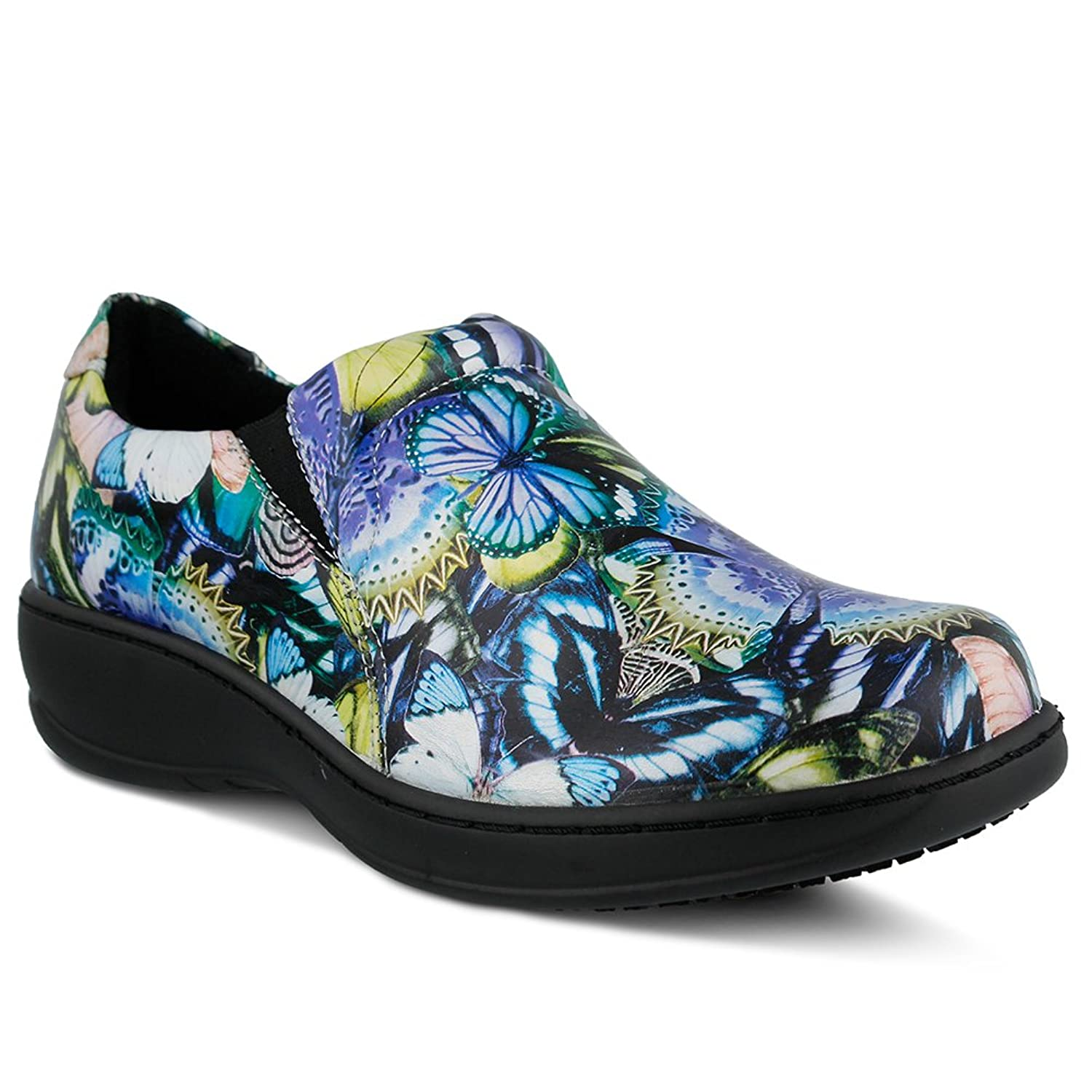 Spring Step Professional Womens Winfrey Vibe Shoe, BLUE MULTI, Size - 5.5