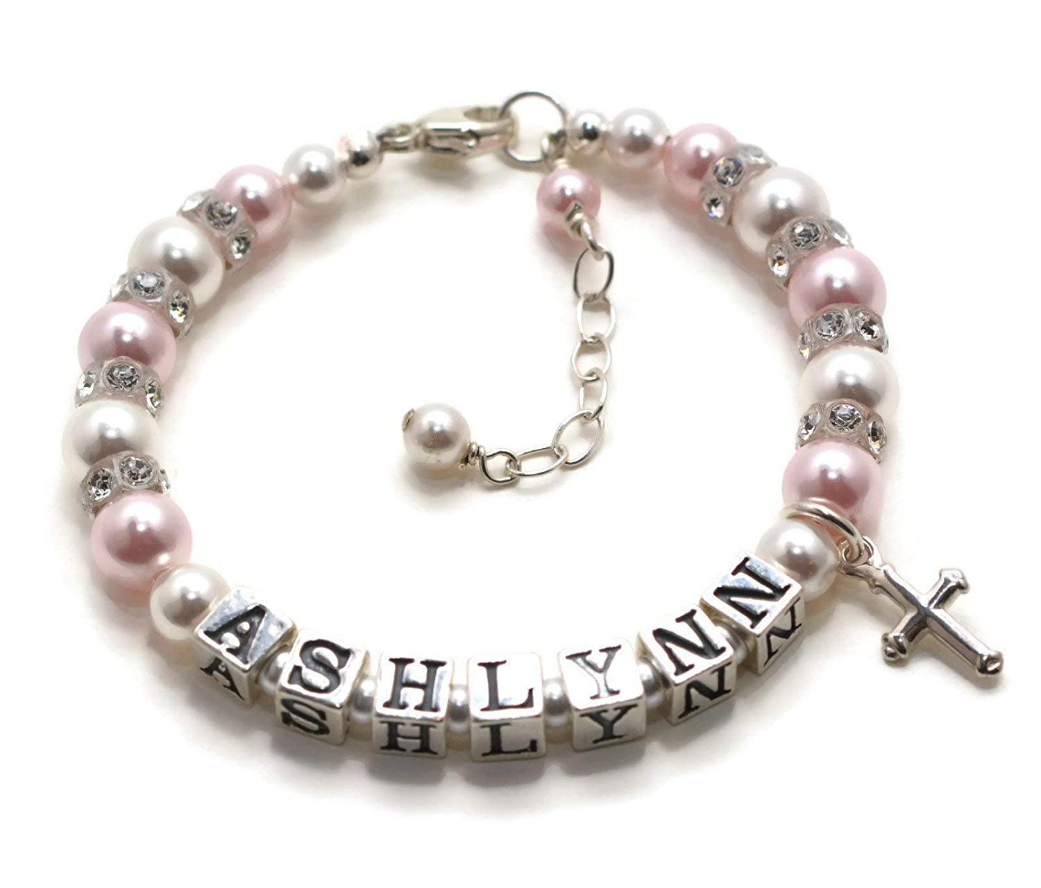 786f012e1902a Amazon.com: Baby Bracelet Baptism Customized Baby Bracelet Baptism ...