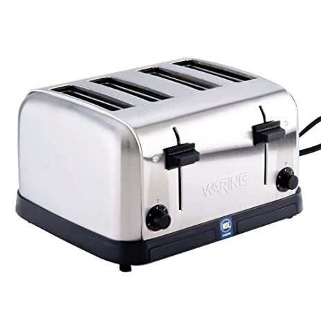 Waring WCT708 Four Compartment Pop Up Toaster