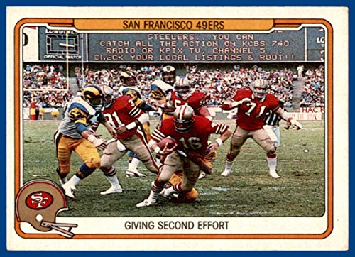1982 Fleer Team Action #49 San Francisco 49ers Joe Montana (ex) -