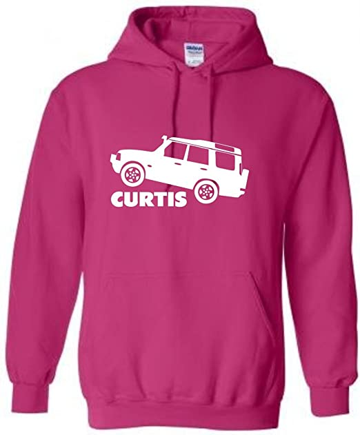 Embroidery and Print City Land Rover Discovery Personalizable Sudadera con Capucha, tamaños S-XXL, Rosa Rosa XX-Large: Amazon.es: Ropa y accesorios
