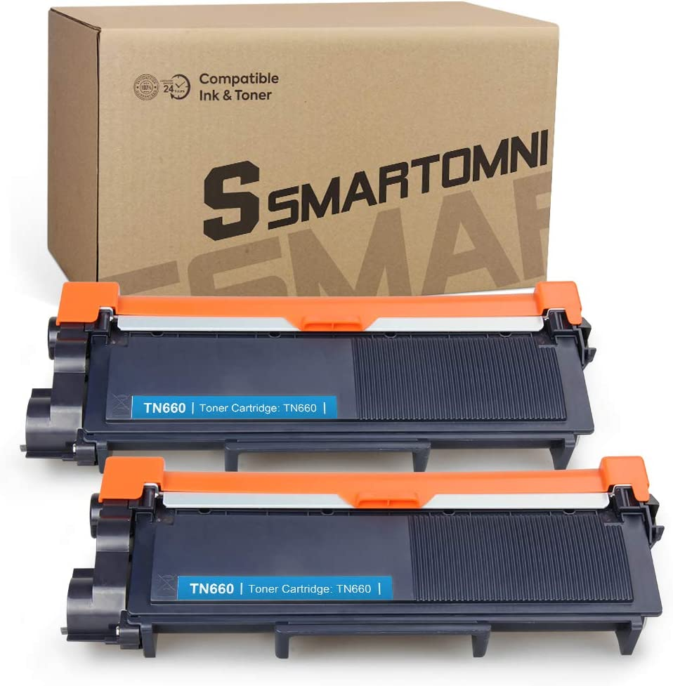 S SMARTOMNI TN660 TN630 Compatible Toner Cartridge Replacement for Brother TN660 TN 660 630 TN-630 use for Brother HL-L2340DW L2380DW HL-L2300D L2320D MFC-L2720DW DCP-L2540DW Printer, Black 2 Packs