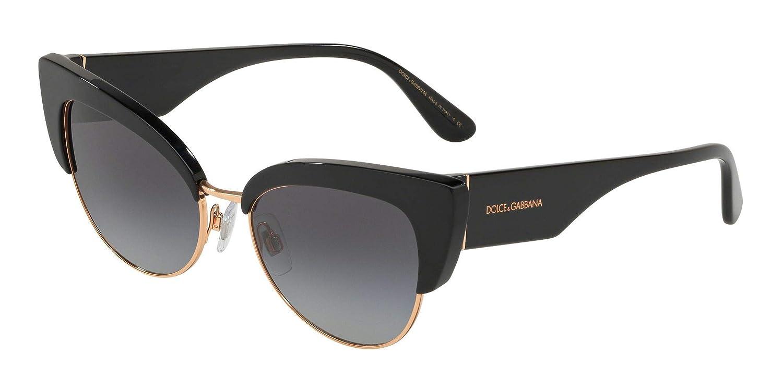 554dd4adb Amazon.com: Dolce and Gabbana DG4346 501/8G Black DG4346 Cats Eyes  Sunglasses Lens Category: Dolce and Gabbana: Clothing