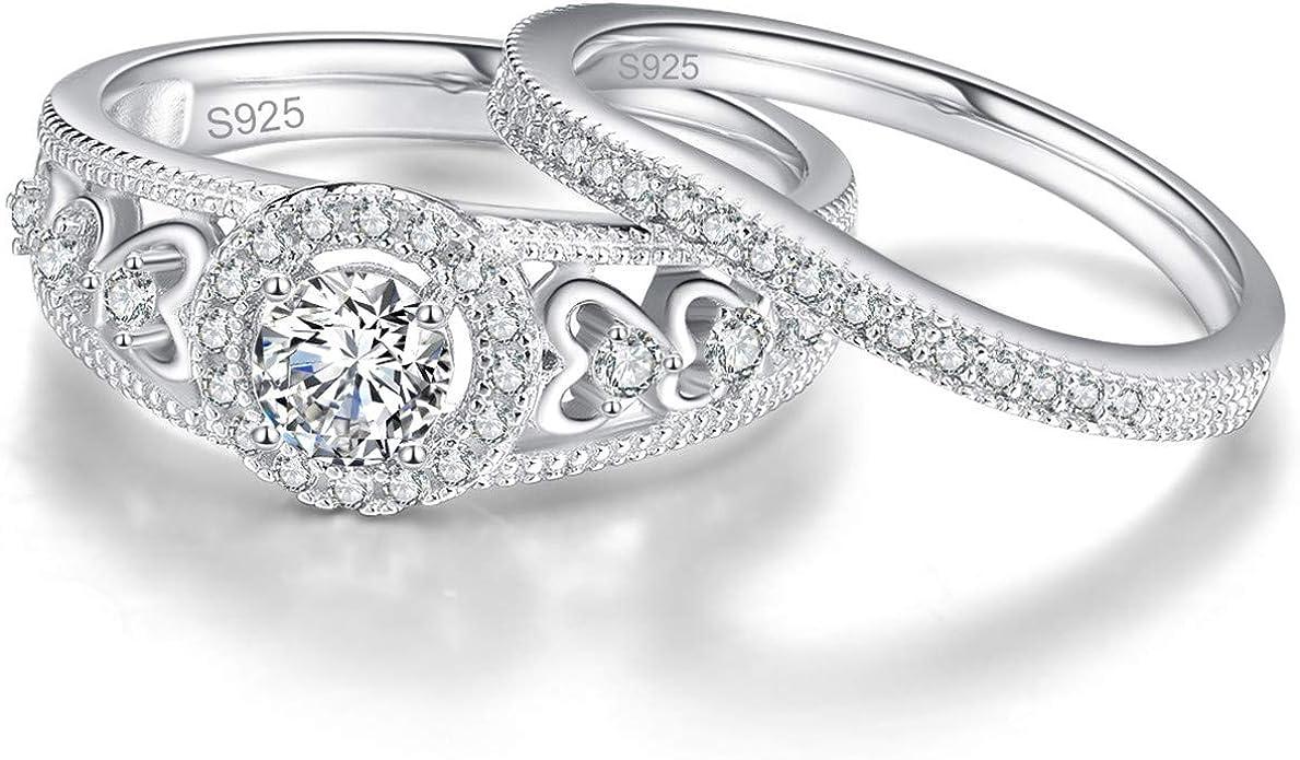 Los688-925 Sterling Silver Ring Silver Women Aaa Grade Cz Clear A874-los688