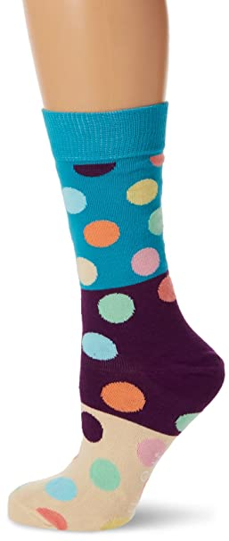 Happy Socks Big Dot Block Sock, Calcetines para Mujer, Multicolor, 37-40