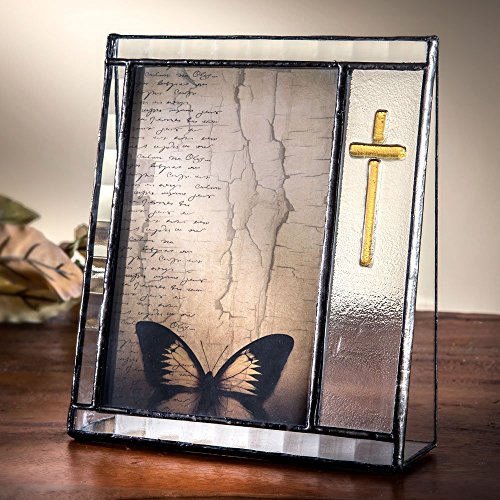 J Devlin Pic 367-46V 4x6 Glass Picture Frame for Baptism, First Communion or Confirmation