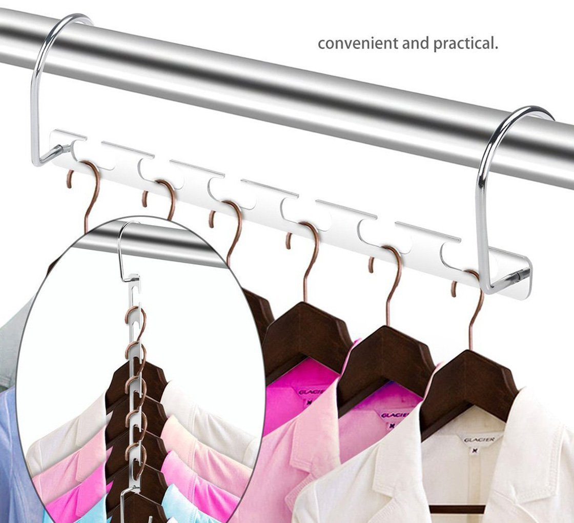 Yeelan Wonder Kleidung Wandschrank Aufh/änger Metall Kleidung Organizer 2er-Set