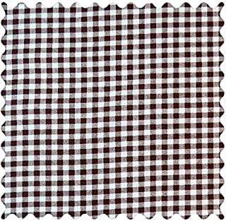 product image for SheetWorld 100% Cotton Percale Fabric by The Yard, Brown Gingham Check, 36 x 44