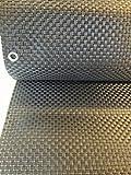 Smart Decorative Polyrattan Privacy Screen, Balcony Privacy Wind Shield, Balcony and Garden Privacy Screen–(Silver and Grey), Silber&Anthrazit, 400x90cm