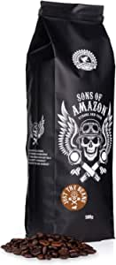 Sons of Amazon Dark Roast Coffee Beans 500g – Australia's and UK's Strongest Coffee Beans - Strong and FAIR - Just The Beans