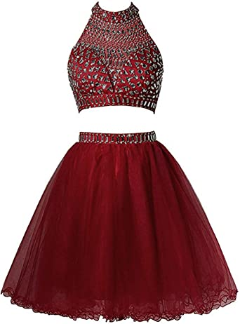 Two Piece Homecoming Dresses Short