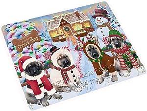 "Holiday Gingerbread Cookie Shop Anatolian Shepherds Dog Large Refrigerator/Dishwasher Magnet RMAG98844 (18"" x 24"")"