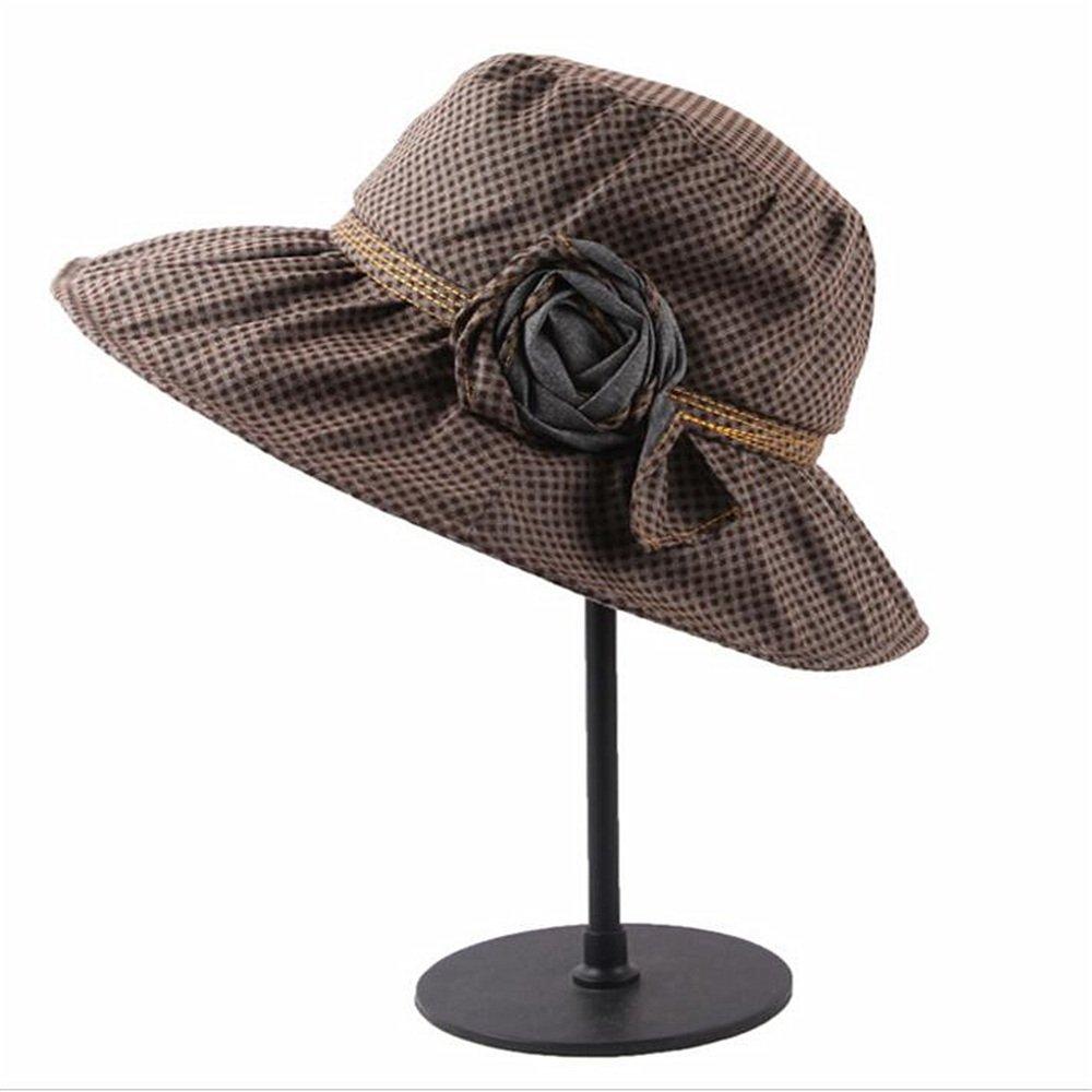 Yiwuhu Sombrero de ala Grande de Verano se Puede Doblar libremente y ...