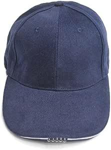 Gorra de Béisbol con 5 LED Luces de Manos Libres LED Linterna Cap ...